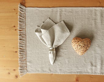 Linen napkins - light gray dinner napkins - Christmas, Easter table decor - gifts for healthy lifestyle and minimalist design lovers  | 0052