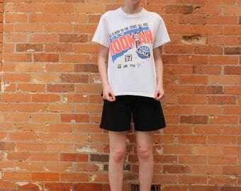 Dennis Rodman Round Ball Camp Vintage 1990s T-Shirt