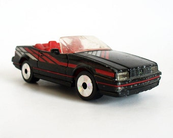 Black cadillac toy car, 1980s Matchbox cadillac allante convertible with laser wheels