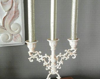 Weathered old candlestick - Shabby chic - romantic - Gustavian