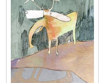 Art Print 20x30   deer   Martina Lengers
