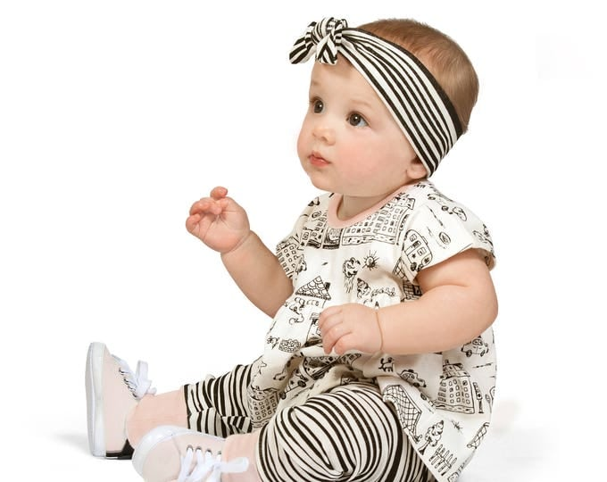 Baby Girl Outfit, Summer Onesie, Baby Girl Top, Newborn Girl Onesie Outfit, Striped Baby Girl Leggings, Infant Girl Outfit, TesaBabe