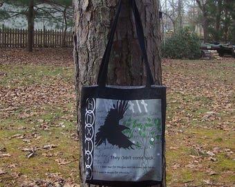 Heathen Totebag - Hugin and Munin Handbag - Anglo-Saxon Viking Norse Heathen Pagan - Renn Faire - Odin Raven