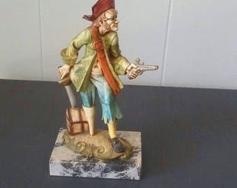 Pirate Figurine, Fontanini Figurine, Vintage Fontanini, Fontanini, Depose Italy, Vintage Pirate, 1970s Pirate, Pirate Decor, Collectible