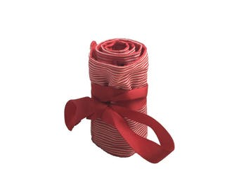 Red striped crayon Roll, crayon roll holder, crayon roll, crayon storage, storage, crayon case