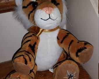 Shining Star Tiger, Sparkle Paw, Tiger Stuffed Animal, Collectable Stuffed Animal Childhood Stuffed Animal