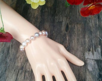 Bracelet with Large Pink Pearls