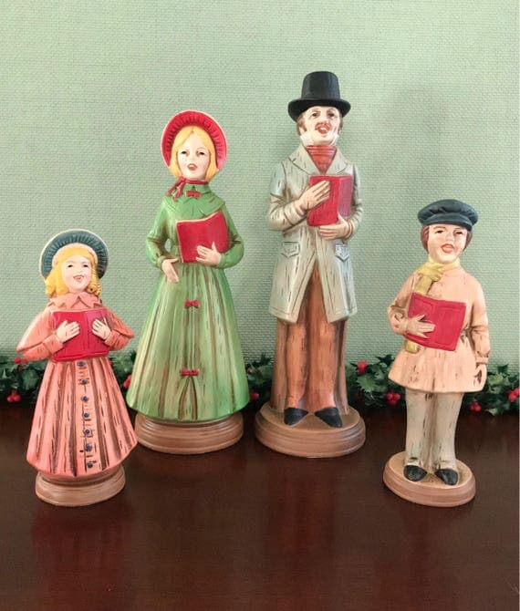 Singing Carolers Candleholders Figurines Vintage By: MyTravelingBoutique