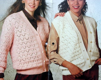 Patons 636, Women's Sweaters and Vests To Knit, 1980's sweater,  Soft in Carisia