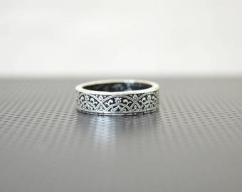 Moroccan Coin Ring, Black Coin Ring, Stained Glass Ring, Black Ring, Coin Art, Morocco, Silver Coin Ring, Moroccan Art, Boho Ring, Black