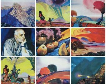 Svetoslav Roerich - Painting - Set of 14 Vintage Soviet Postcards, 1961. India Landscapes Portraits Jawaharlal Nehru Art Print