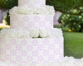 Cake Stencils- Large Square Flower Stencil, Birthday Cake, Wedding Cake, Celebration Cake, Washable, Reusable, Dishwasher Safe, Food Safe