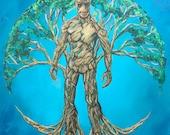 Groot Tree of Life Art Print // Gallery Quality Giclée Print // Tony Rector Art // 12 x 12 Fantasy Art // Marvel Guardian