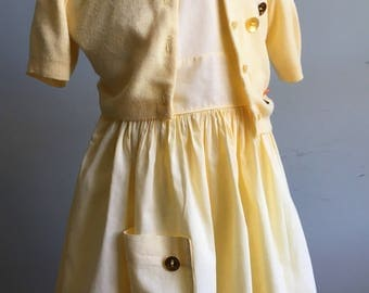 Vintage Girl's Dress and Sweater