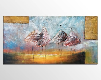 Abstract Painting, Ballet Dancer Art, Canvas Wall Art, Canvas Painting, Abstract Wall Art, Original Art, Contemporary Art, Modern Painting