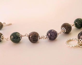 Mt. Monadnock Bracelet - Made With Beads Crafted from Monadnock-Area Soil