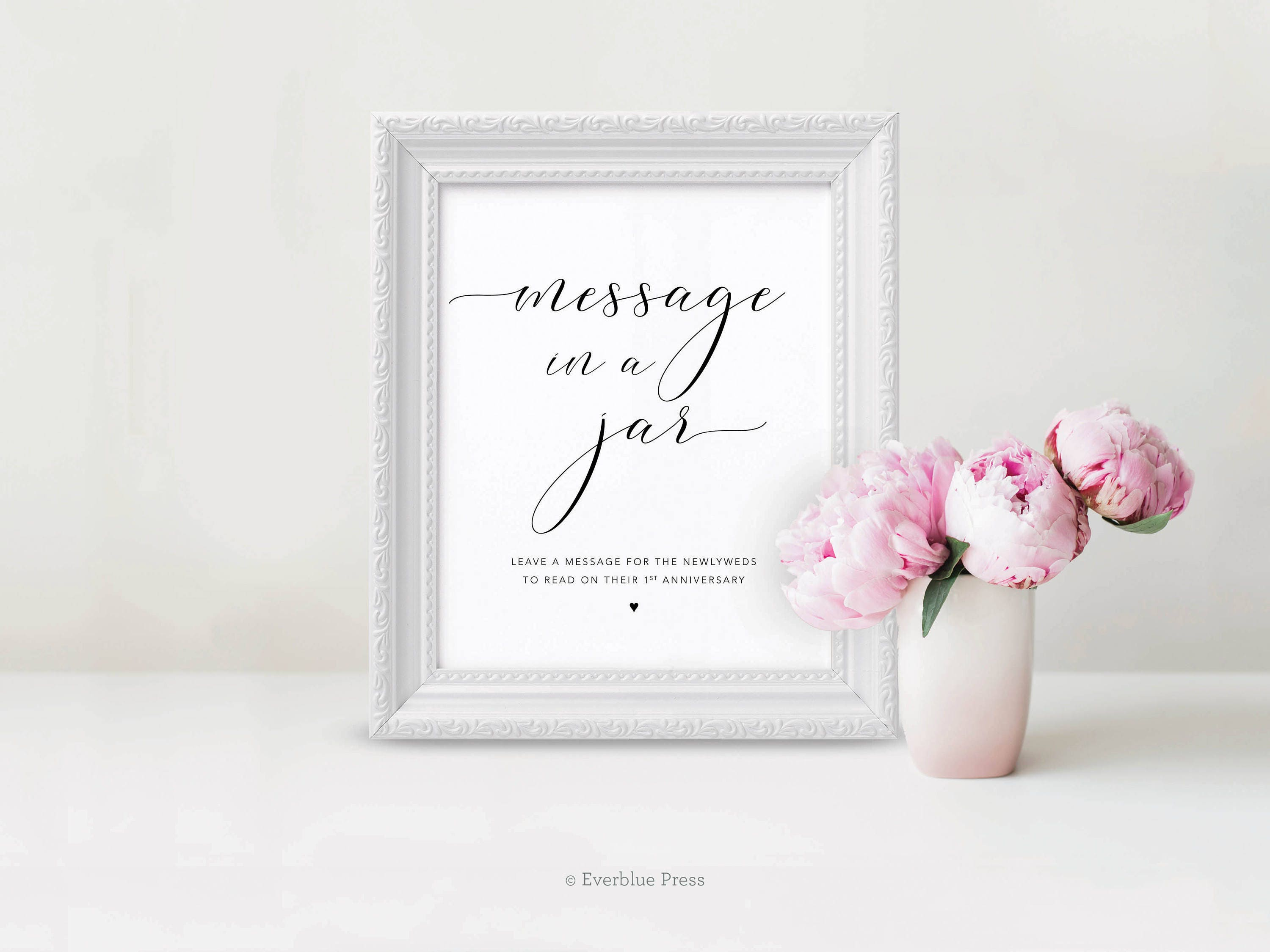 Message in a jar sign printable pdf 8x10 and 11x14 instant