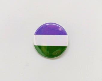 "1.5"" Genderqueer Button Genderqueer Pride Button Genderqueer Flag Button Genderqueer Pride Flag Button Transgender Pride LGBTQA LGBT"