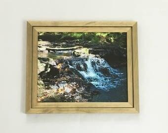 Watercolor Print, Waterfall Print, Woods Wall Art, 8x10 Print, 11x14 Print, 16x20 Print, Landscape Photography, Forest Print, Nature Gift