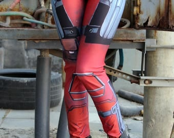 NEW! TAFI Deadpool : Comics Leggings  Wade Wilson Marvel Hero Custom Design Yoga Pants in Costume CosPlay Print
