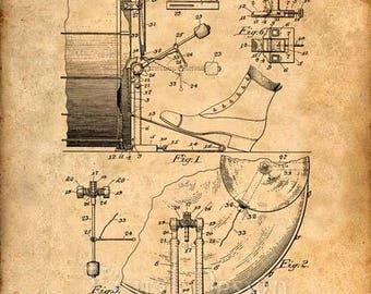 Drum Patent Print Drum Art Print