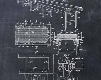 Shuffleboard Patent Print Shuffleboard Game Room Art Print