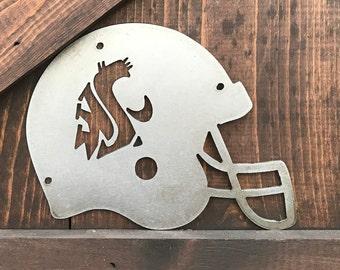 Football Signs, WSU Sign, Sport team signs, College Football signs, Washington State University Football Decor, Man cave decor, Sports decor
