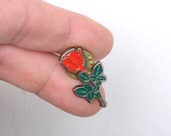 Rose enamel pin, flower brooch, pin brooch, lapel pin, enamel pin, lapel pin for her, lapel pin for woman