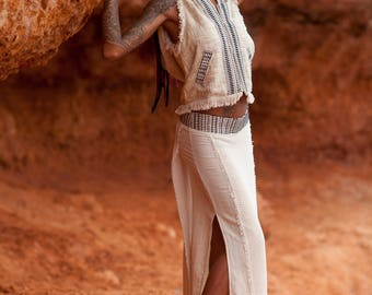 TWIST SKIRT, cotton hemp skirt, long skirt,tibetan skirt, boho skirt,elegant skirt,hemp skirt, jute skirt,etnic skirt,