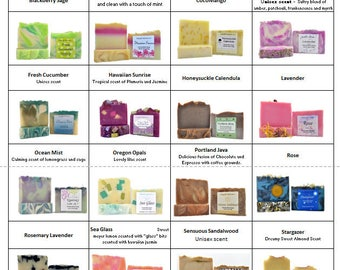 6 Bars of SOAP | YOUR CHOICE | Handcrafted Soap | Artisan Soap | Handmade Soap | Variety Pack Soap