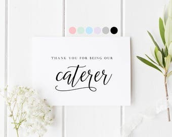 Thank You Caterer Card, Card For Caterer, Thank You For Being Our Caterer, Wedding Caterer Card, Wedding Caterer Thank You Card, Vendor Card
