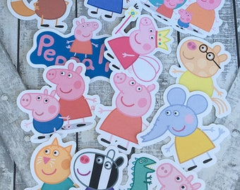 Die Cuts - Peppa Pig,INSTANT DOWNLOAD,Peppa Pig Birthday Party,Printables,Peppa Pig Party,Peppa Pig Theme Baby Shower,Birthday Party Decor