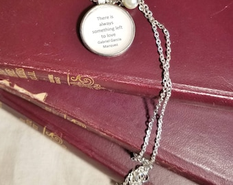 Toni Morrison Quote Necklace, Make a difference about something other than yourselves, Inspirational, Book Nook, MarjorieMae