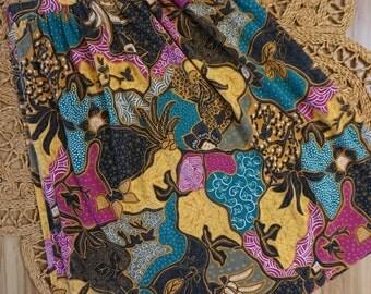 1980's Koret Colorful Tribal Print Skirt Size M