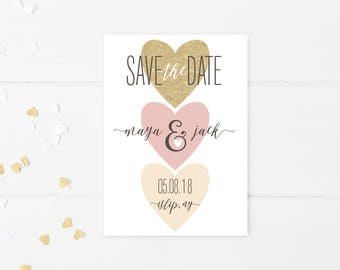 Save the Date, Save the Date Postcard, Save the Date Cards, Save the Date Template, Heart Save the Date, Save the Date Printable [176]