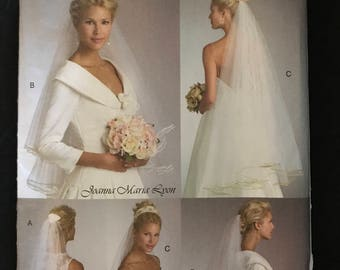 Vogue V8374 - Bridal Veil and Headpiece Collection by Joanna Maria Lyon