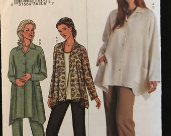 Butterick 3759 - Easy to Sew Loose Fitting Shirt with Shaped Hem and Pants or Capris - Size 18 20 22