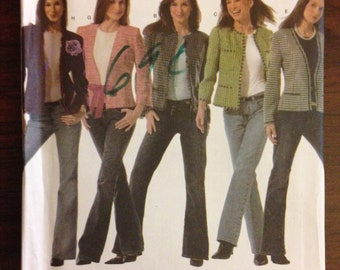 Simplicity 4954 - Design Your Own Jacket with Long or Bracelet Length Sleeves - Size 4 6 8 10 OR 12 14 16 18 20