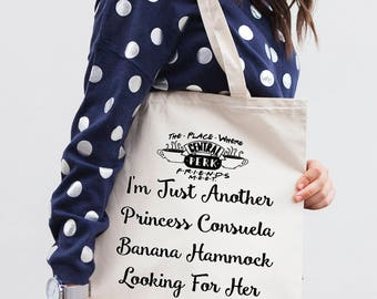 Friends TV Show - Shopping Tote Bag - Canvas Tote Bag -Printed Tote Bag -Cotton Tote Bag - Phoebe quote - Funny Quote Bag -  Tote Bag
