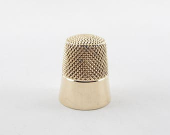 14K Yellow Gold Sewing Thimble - 14k Yellow Gold Tailoring Thimble # 8