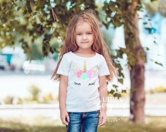 Girls Unicorn Shirt, Unicorn Outfit, Girl Shirt, Girl Clothes, Unicorn Shirt, Baby Girl Unicorn, Girl Outfit, Unicorn, Magical,