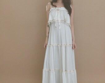70's BOHO SUN DRESS // wedding dress // boho wedding dress