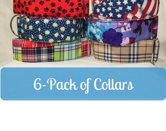 """Giant Dog Collar Collection (6) -  2"""" Wide Buckle Dog Collars for Mastiff Great Dane Doberman Pitty Big Dog Set of (6) by LaVilla"""