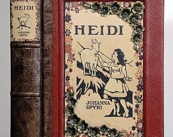 c.1930 ~ HEIDI ~ Johanna Spyri, Restored & Rebound in Leather