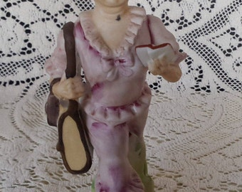 Lefton grandmother figurine on vacation