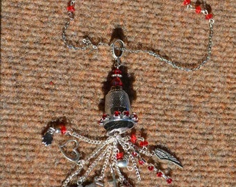 Valentine's Thimble! Steampunk, Sewing, Angels, wings, music.