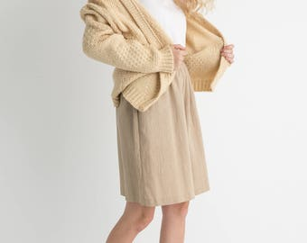 70 Cream Wool Cardigan M