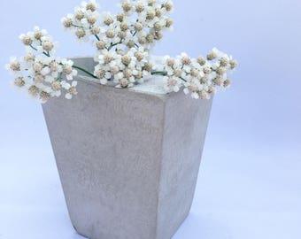 Gray Concrete Planter, Succulent Planter, Cement Planter