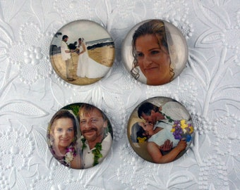 Personalized Magnets - Set of Four 2-inch Circles     Personalized Gifts Personalized Items Personalized Photo Gifts Photo Gifts Photo Items