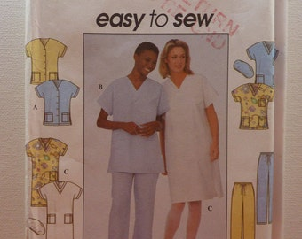 Sewing Pattern for Top, Dress, Pants and Hat Size XS, S, M (32-42) (34-44)  Uncut Original Simplicity 8336